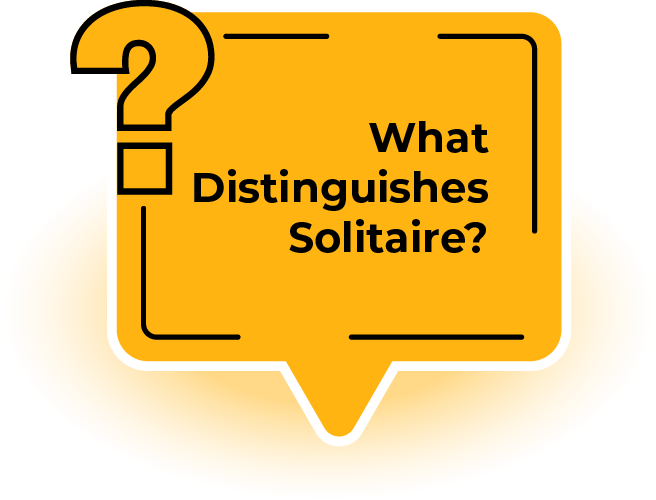 what distinguishes solitaire